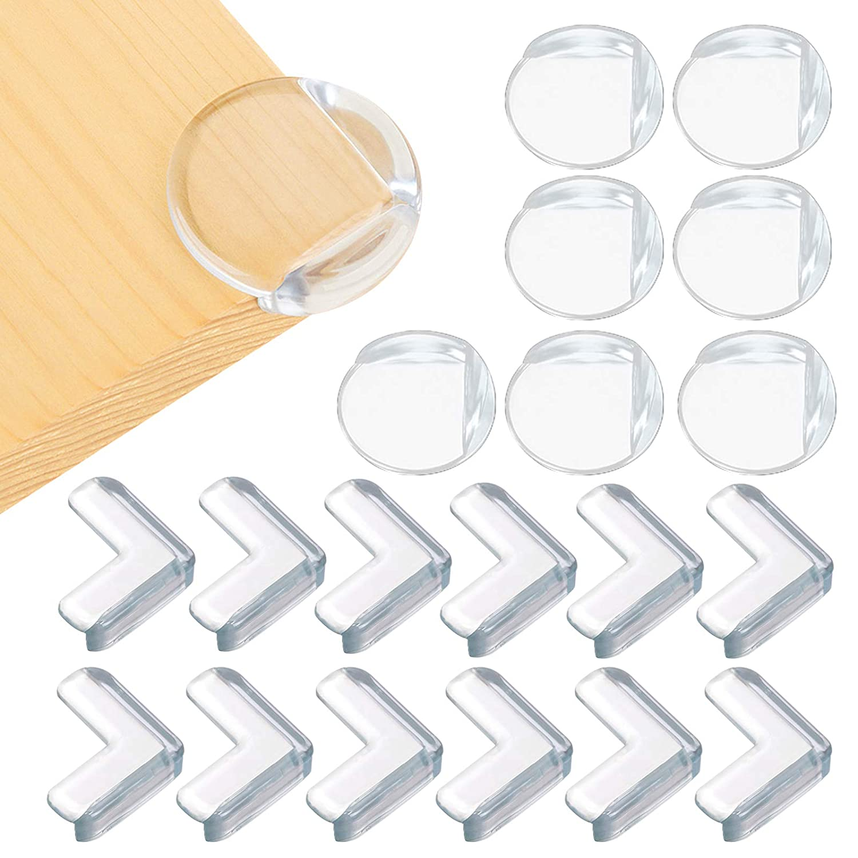 Corner Protectors for Baby Safety, 24 Packs Clear Furniture Edge Guards Bumper for Table Desk Shelf Bed Sharp Corner