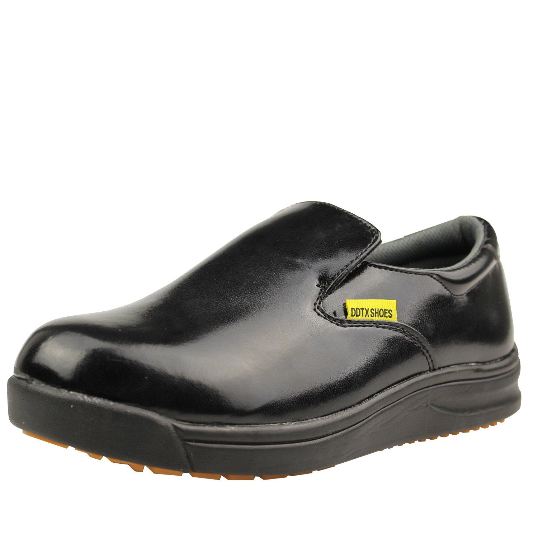 DDTX Men's Slip and Oil Resistant Slip-on Work Shoes Black(11) by DDTX