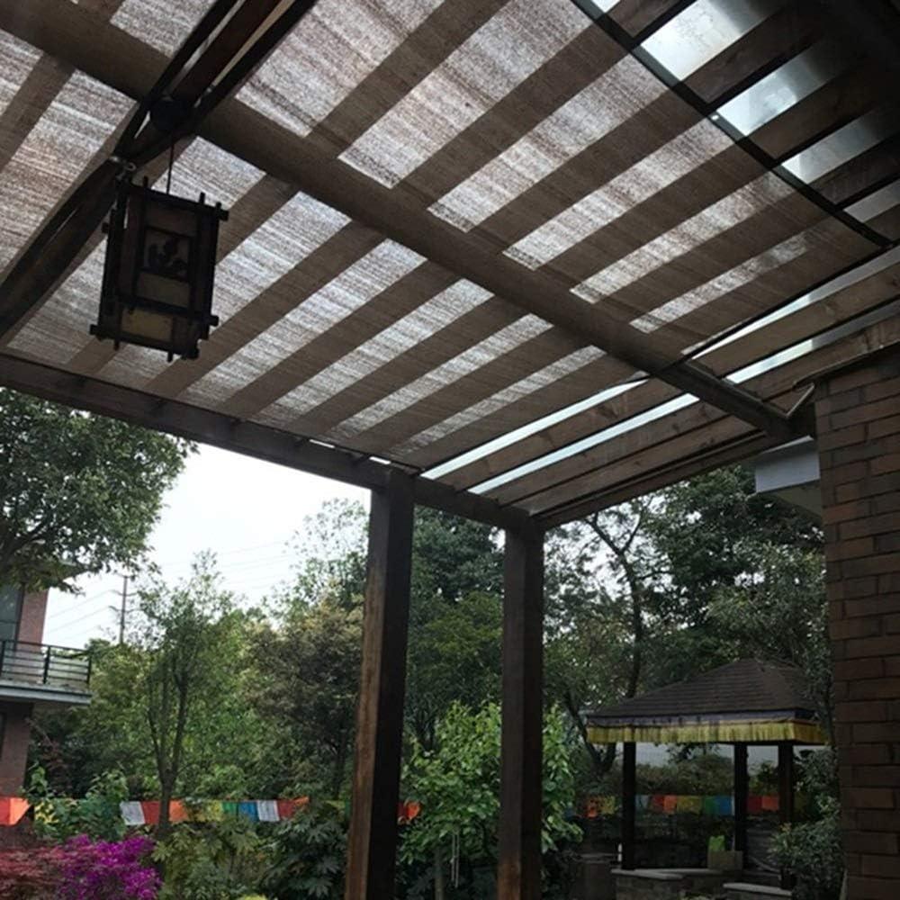QIANCHENG-Shading net Malla Sombra De Red marrón Cubierta de pérgola Sombrilla de Red Aislamiento térmico Cifrado Polietileno Jardinería Invernadero, 21 Tallas (Size : 3x4m): Amazon.es: Jardín