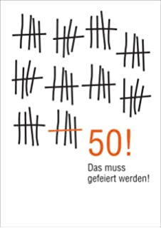 Wunderbare Geburtstags Glückwunsch Karte Zum 50. Geburtstag Im  Strich Listen Look: Das Muss