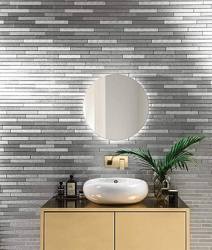 Superb Arthouse Foil Slate Silver Brick Effect Metallic Silver Download Free Architecture Designs Ogrambritishbridgeorg