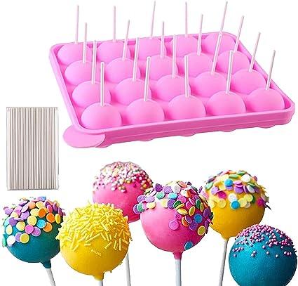 DQTYE Molde de pastel de piruleta de silicona libre de BPA Pastel de chocolate Bandejas de cubitos de hielo Muffins de gelatina Herramienta de cocina ...