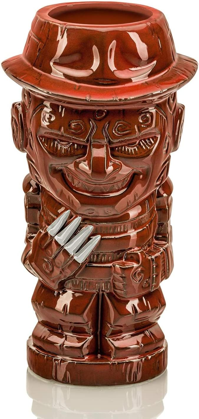Geeki Tikis Nightmare On Elm Street Freddy Krueger Mug | Official Nightmare On Elm Street Collectible Horror Tiki Style Ceramic Cup | 21 Ounces