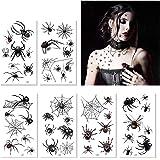 Halloween Temporary Tattoos - Halloween Spider Spider Webs Temporary Tattoos Shoulder Arm Back Body Art Tattoos Sticker Cospl