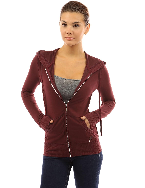 6b5102cb512 PattyBoutik Women Hoodie Pocket Zip Up Jacket