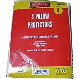 Lot de 4housses de protection d'oreiller lavable en machine–Tissu en polypropylène