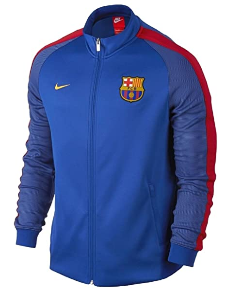Chaqueta FC Barcelona N98 Anthem Track para hombre, color ...