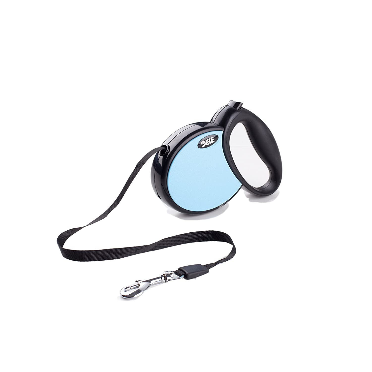 DELE Retractable Dog Leash, 13ft Dog Walking Leash Smooth Retracting Leash for Small Medium Breed up to 45lbs, Brake and Lock Button 20kg