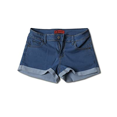 Awesome21 Women's Casual Push Up Roll-up Cuff Denim Shorts at Women's Clothing store