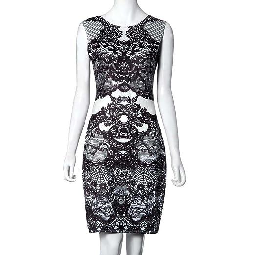 4f7eed2a5b63 Internet Donna Vestiti Fiore Vintage Print Elegante Dresses Matita ...
