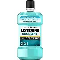 LISTERINE Breath Freshening Mouthwash, Cool Mint, Milder Taste, 250ml
