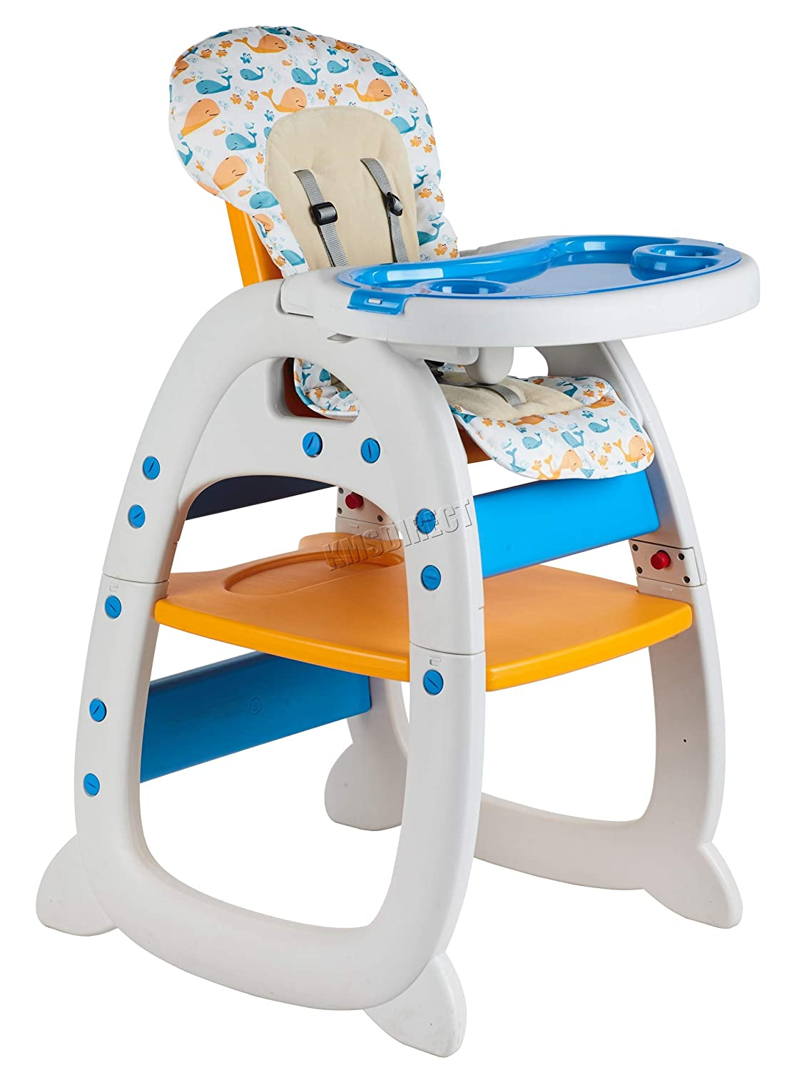 FoxHunter Baby Highchair Infant High Feeding Seat 3in1 Compact Toddler Table Chair Orange New KMS