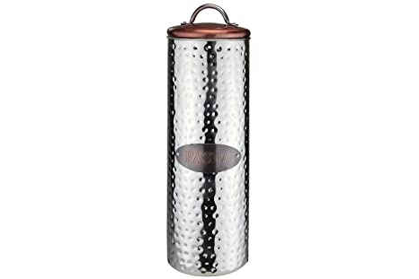 Apollo Copper Canister Pasta Stainless Steel Silver 10 X 10 X 30 Cm