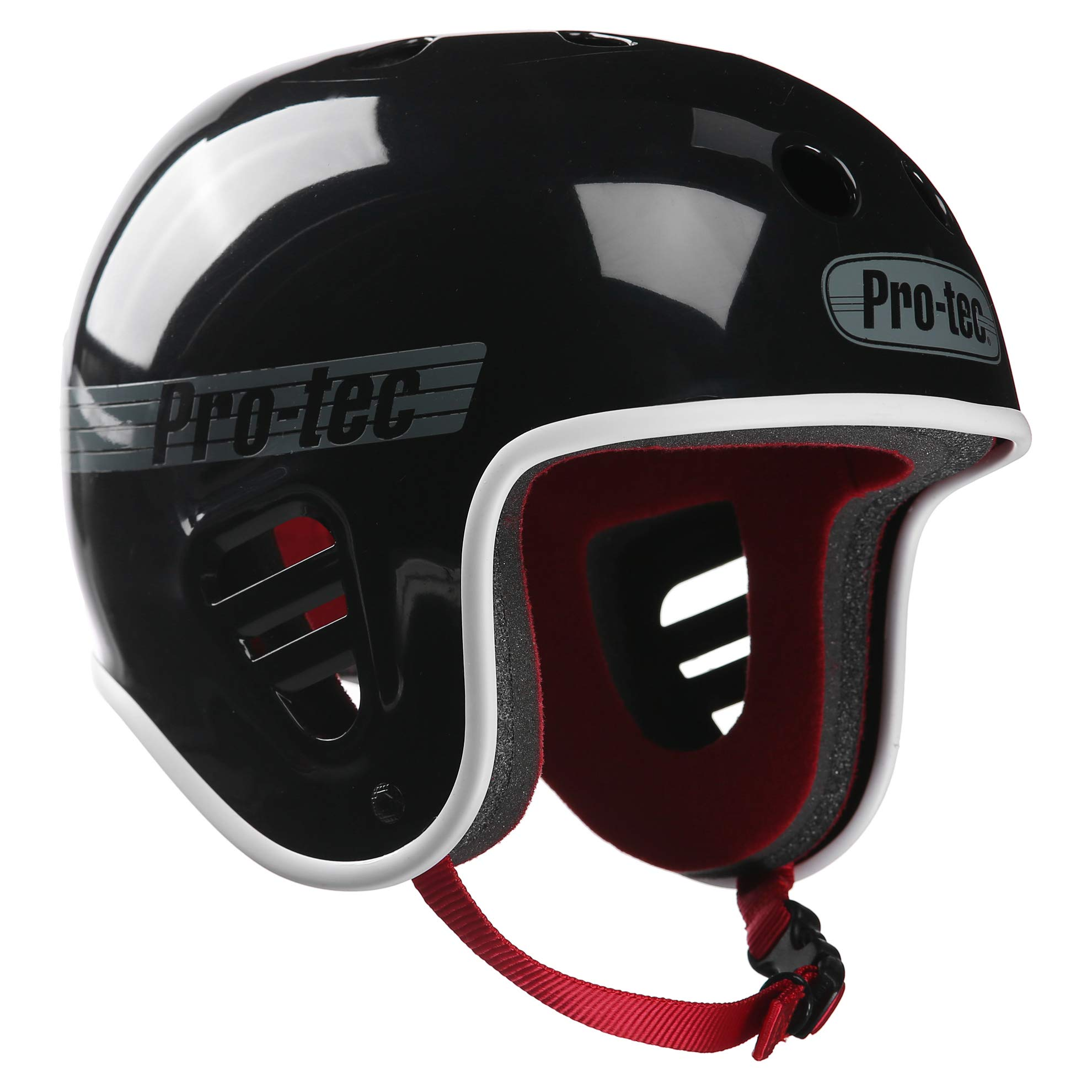 Pro-Tec Full Cut Skate Helmet, Gloss Black, Medium