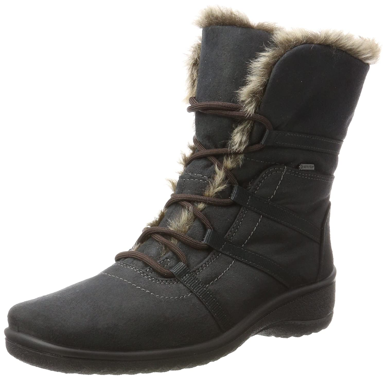 Ara München-St-Gor-Tex, Botas de Nieve para Mujer Gris (Crow, Teak)
