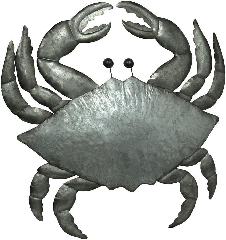 Comfy Hour 9 Metal Art Sea Oceal Coastal Crab Wall Decor Antique Brown