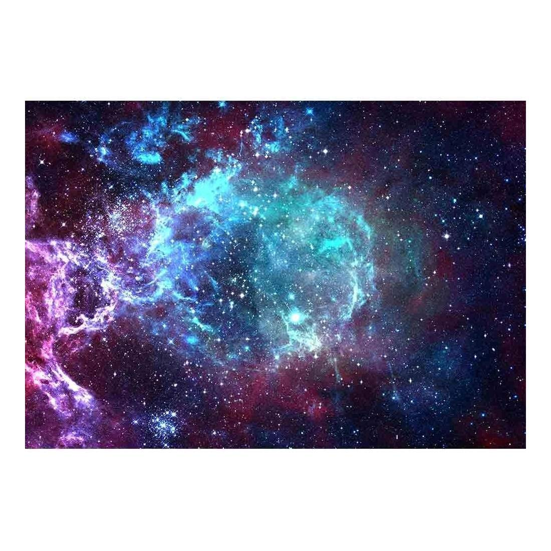 wall26 - Star Field in Space a Nebulae and a Gas Congestion - Removable Wall Mural | Self-Adhesive Large Wallpaper - 66x96 inches