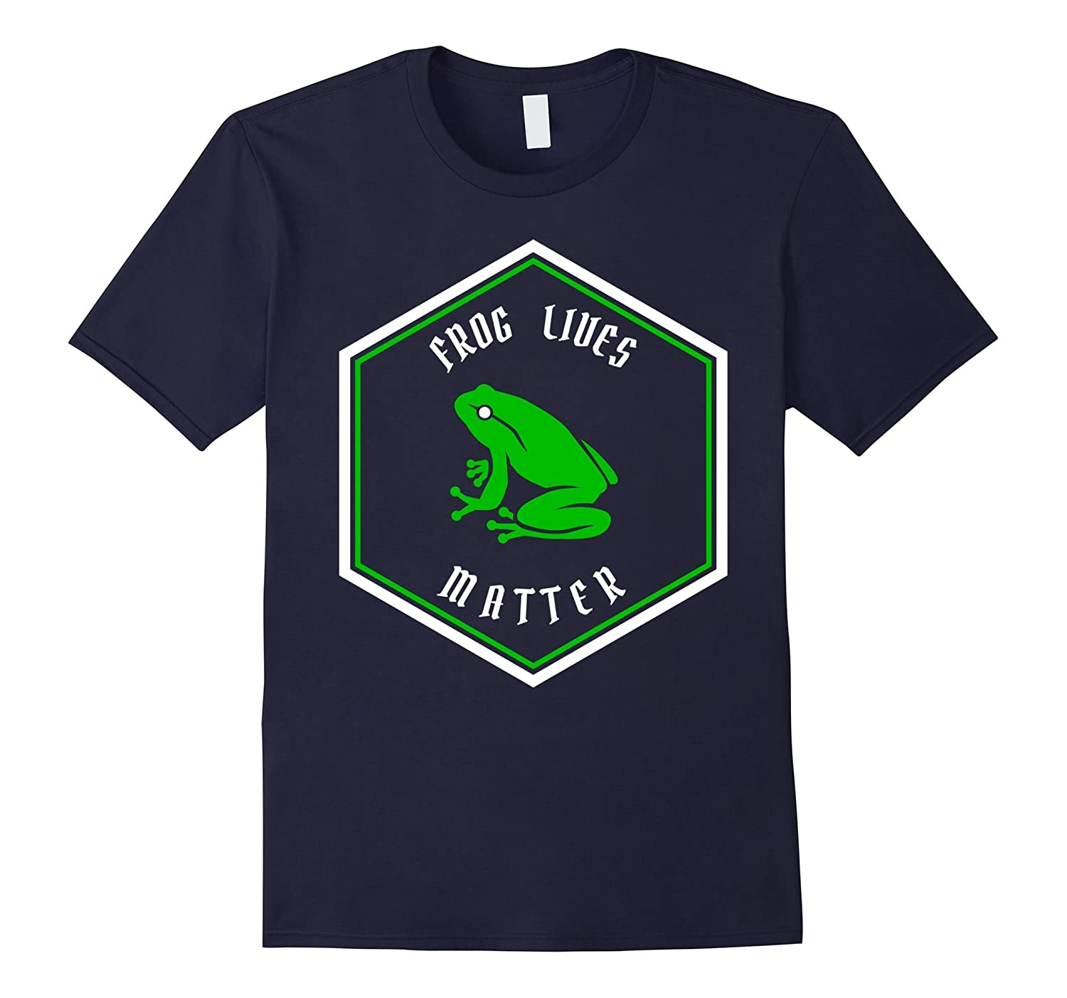 Animal Lover Green Frog Lives Matter Save The Frogs T-Shirt-TH
