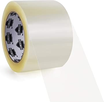 """Free 3/"""" Tape Dispenser 3 Inch x 110 Yards Clear Packing Tapes 1.75 Mil 6 Rolls"""