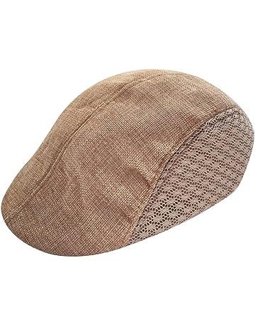 Waroomss Recién llegado de otoño estilo cómodo gorro de boina de boina  respirable gorra de golf 04b253ad35c