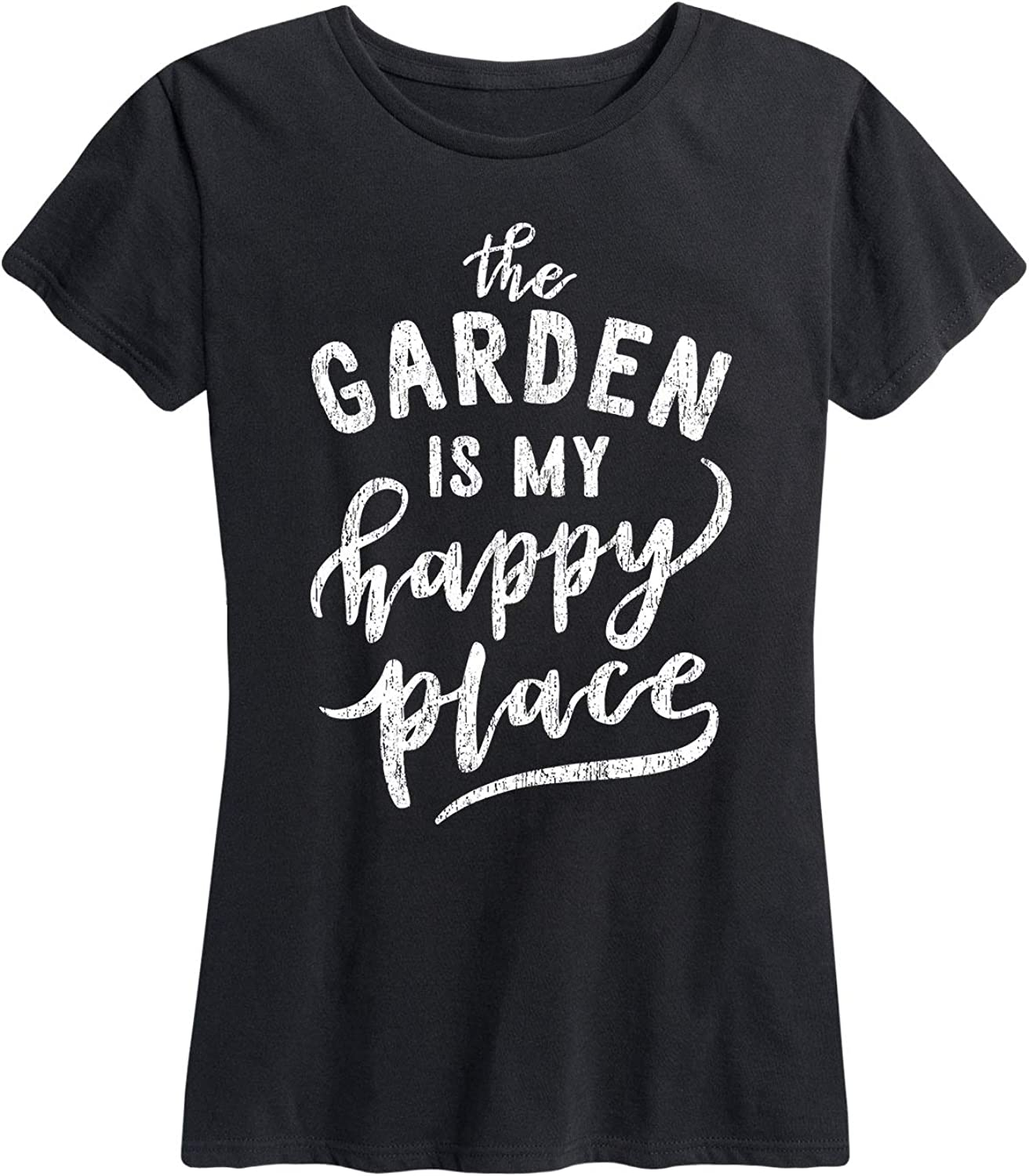 Instant Message The Garden is My Happy Place - Women's Short Sleeve Graphic T-Shirt