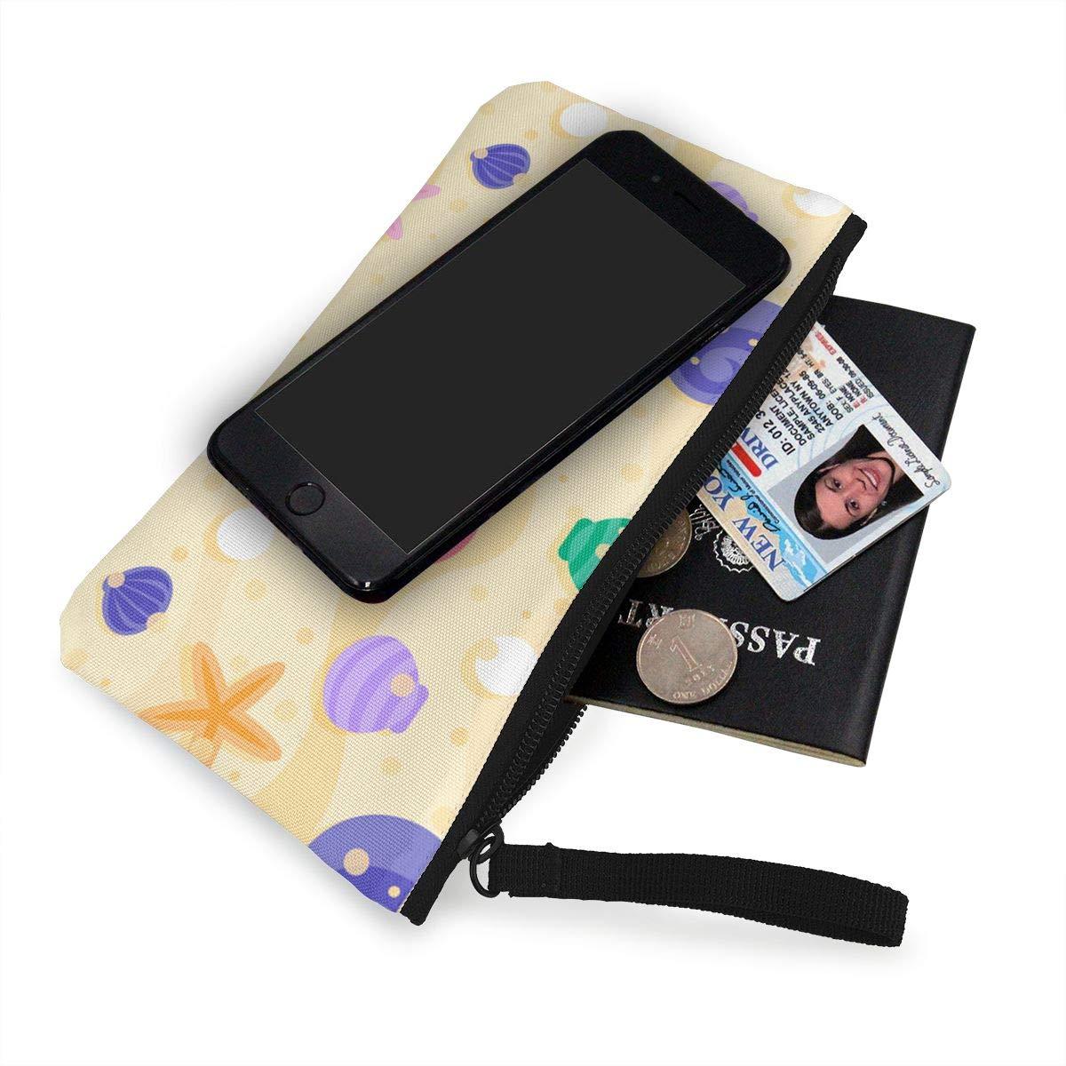 Amazon.com: Monedero de lienzo para monedas, concha de playa ...