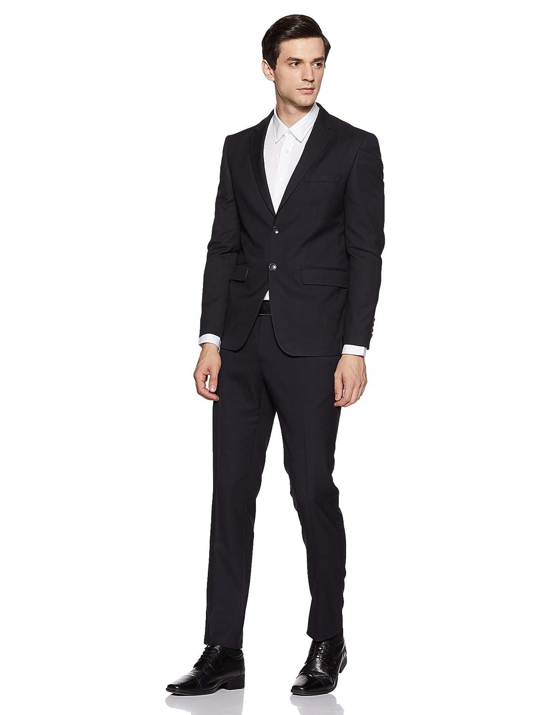 Peter England Men's Poly Viscose Notch Lapel Suit