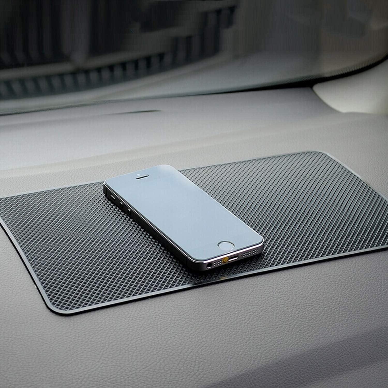 Black Demason 2 Pcs Anti-slip Car Dash Sticky Pads 27 x 15 cm Car Dashboard Rectangular Pad Heat Resistant Non-Slip Mats for Automobile /& Office Supplies