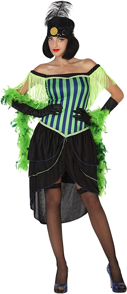 Atosa-17023 Disfraz Cabaret, Color Verde, XL (17023): Amazon.es ...
