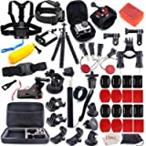 MOUNTDOG 65-in-1 Action Camera Accessories Kit for GoPro Hero 7 6 8 5 4 3 Hero Session 5 Black Accessory Bundle Set for…