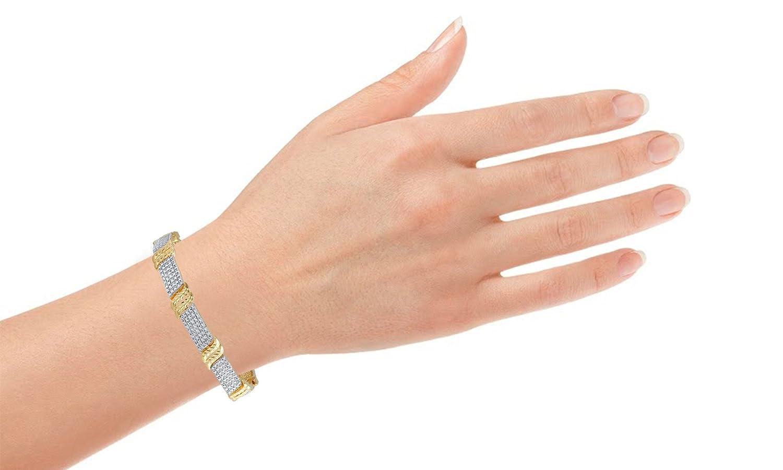 Diamond Accent Link Fashion Bracelet