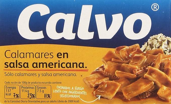 Calvo - Calamares en salsa americana - 72 g