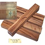 """Holy Land Market Olive Wood Bethlehem Pen Blanks (Five) 5 pc or Blanks : 3/4""""x 5-5.5"""" with Certificate"""