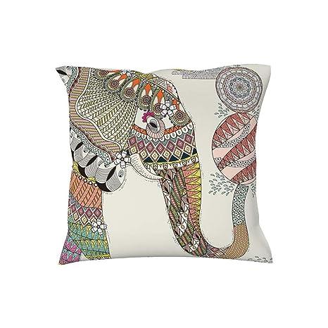 Dofeely - Funda de cojín con diseño de Elefante de Color, 45 ...