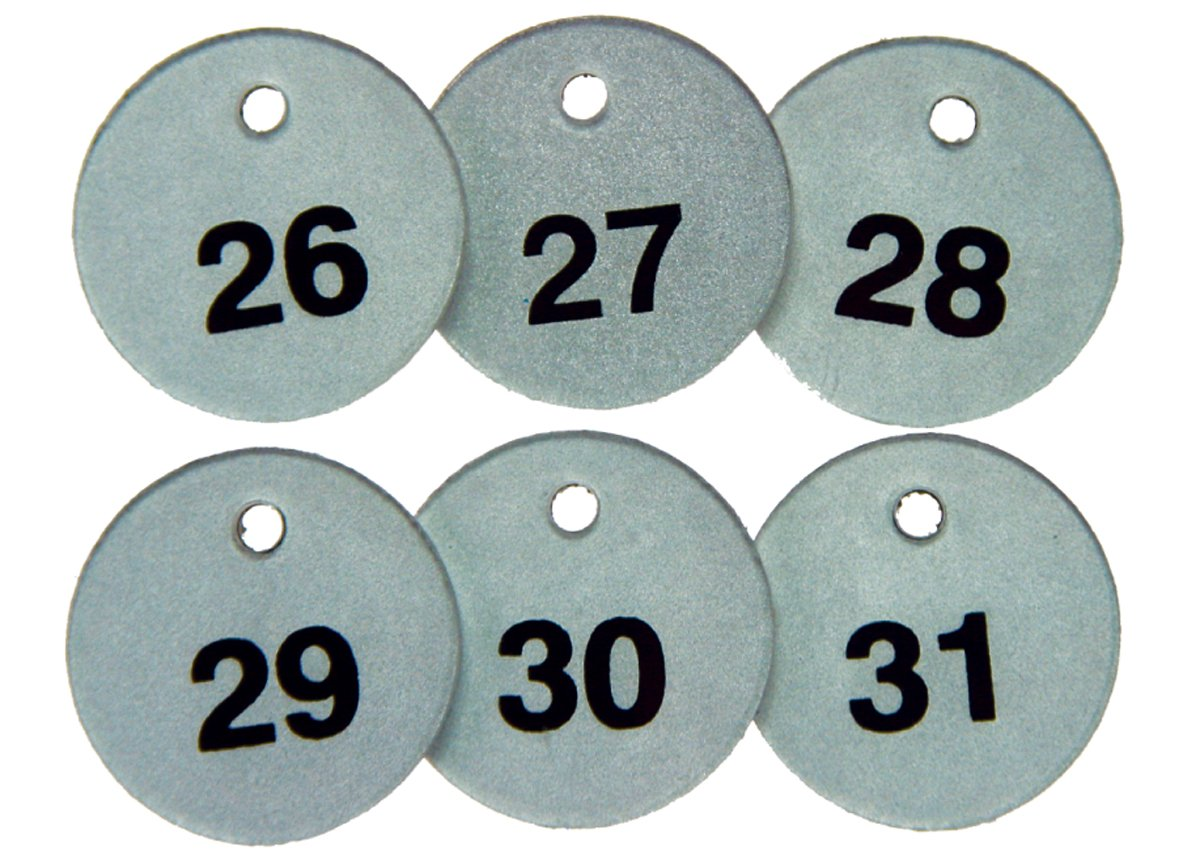 Pack of 25 Black on Reflective Silver 1.5 x 1.5 1-1//2 Diameter Accuform TDL153 Metal Identification Metal-Lite Tag 76-100 Series