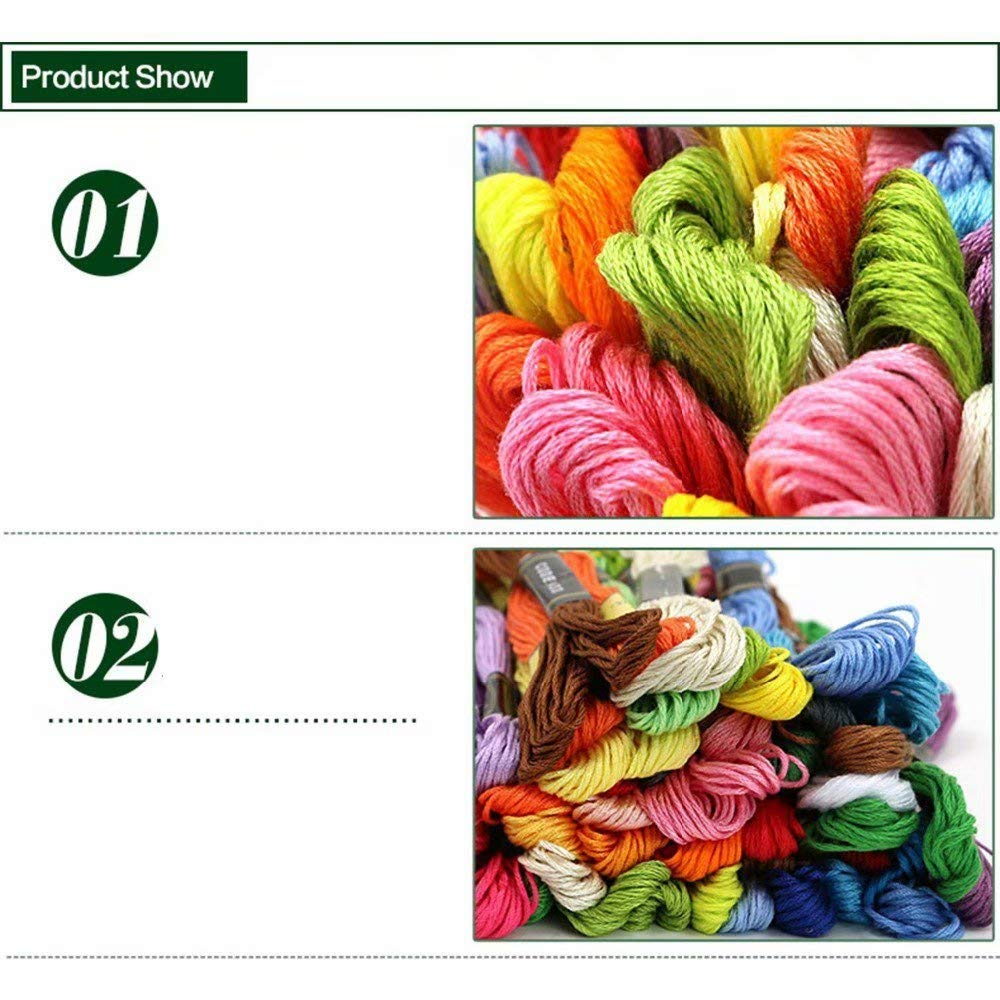 Liroyal Embroidery Thread 50 x Assorted Coloured Skeins 100/% Cotton