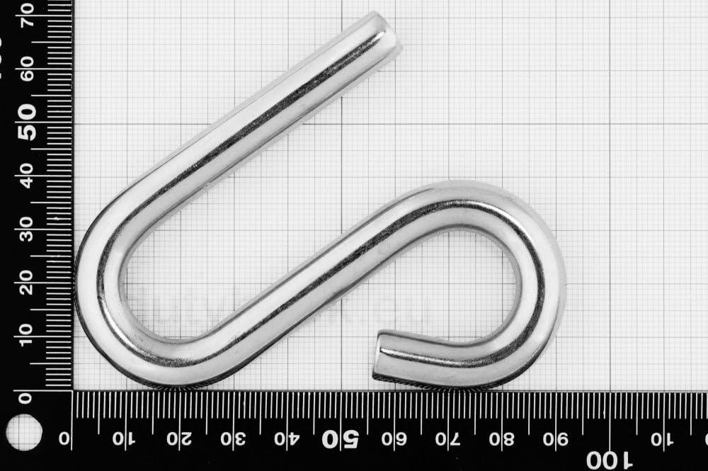 S-Haken Edelstahl 95mm 10mm
