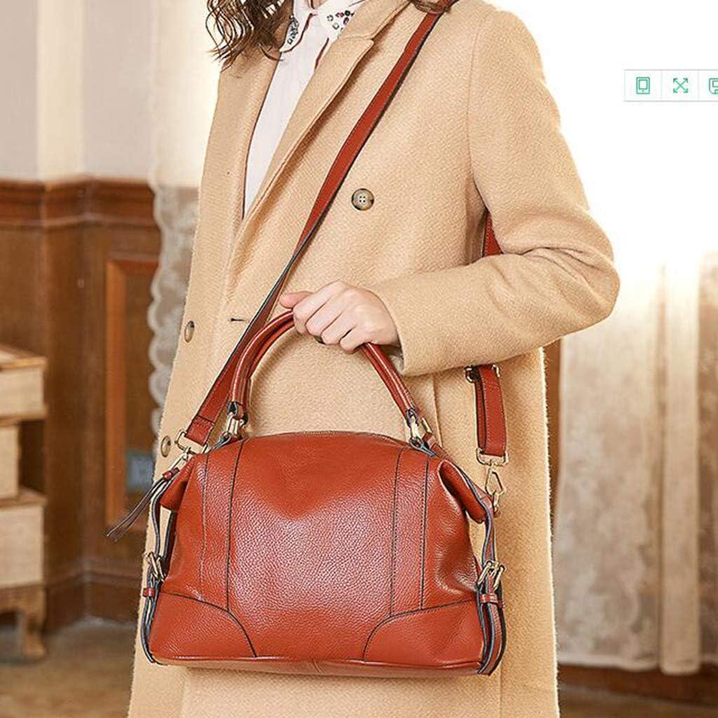 Lyfzxh Borse da donna borse a spalla tasche crossbody passerella belle borse in pelle borsa da donna scuola Pink