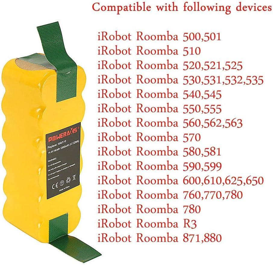 Accessori per Aspirapolvere 14.4V 4500Mah Ni-Mh Batteria per Irobot Roomb AB 1X