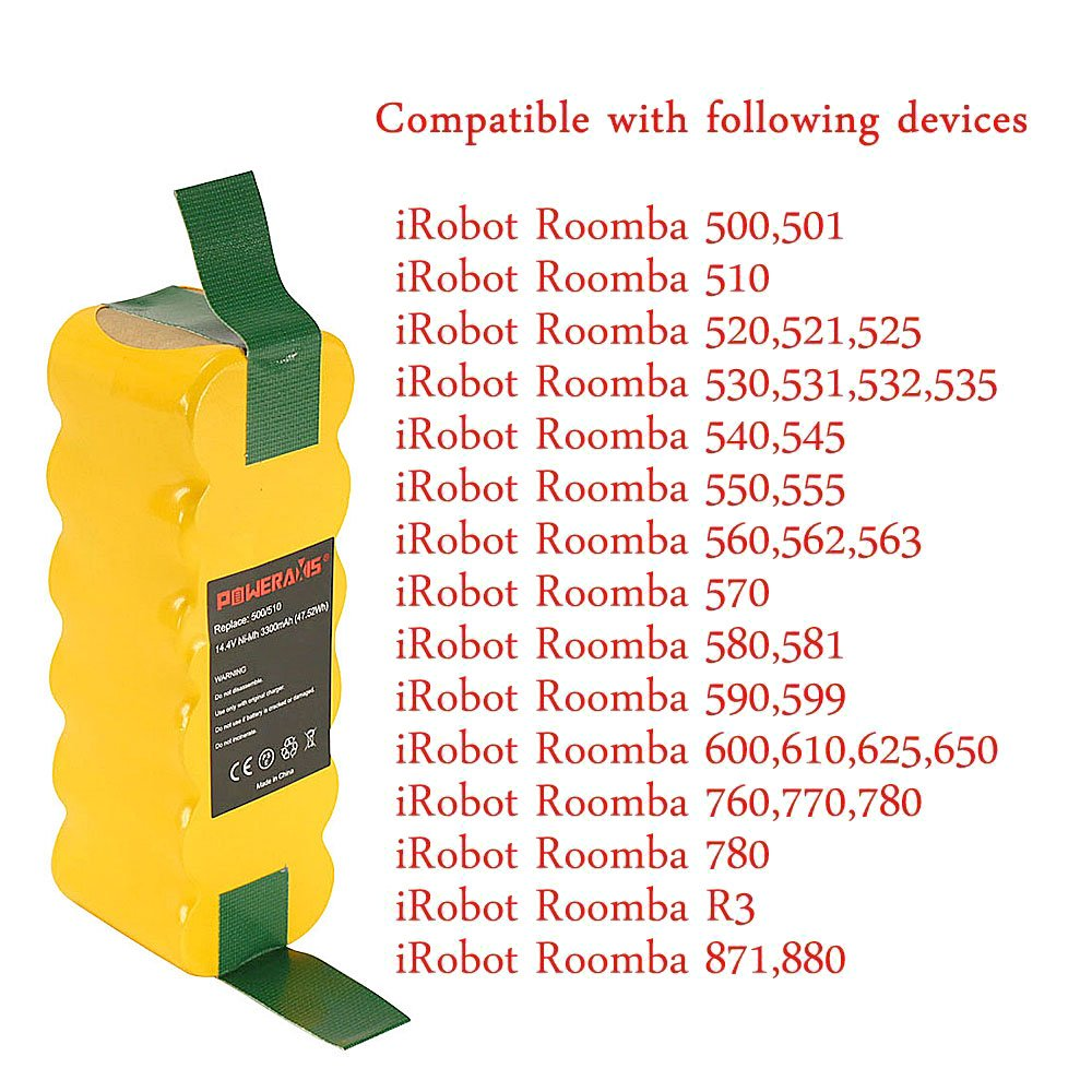 4500mAh NI-MH Battery for iRobot Roomba 532 535 540 550 562 R3 fits 80501