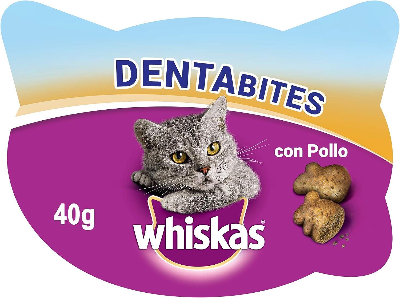 Whiskas Dentabites para La Higiene Oral de Uso Diario para Gatos (Pack de 8 x 40g)