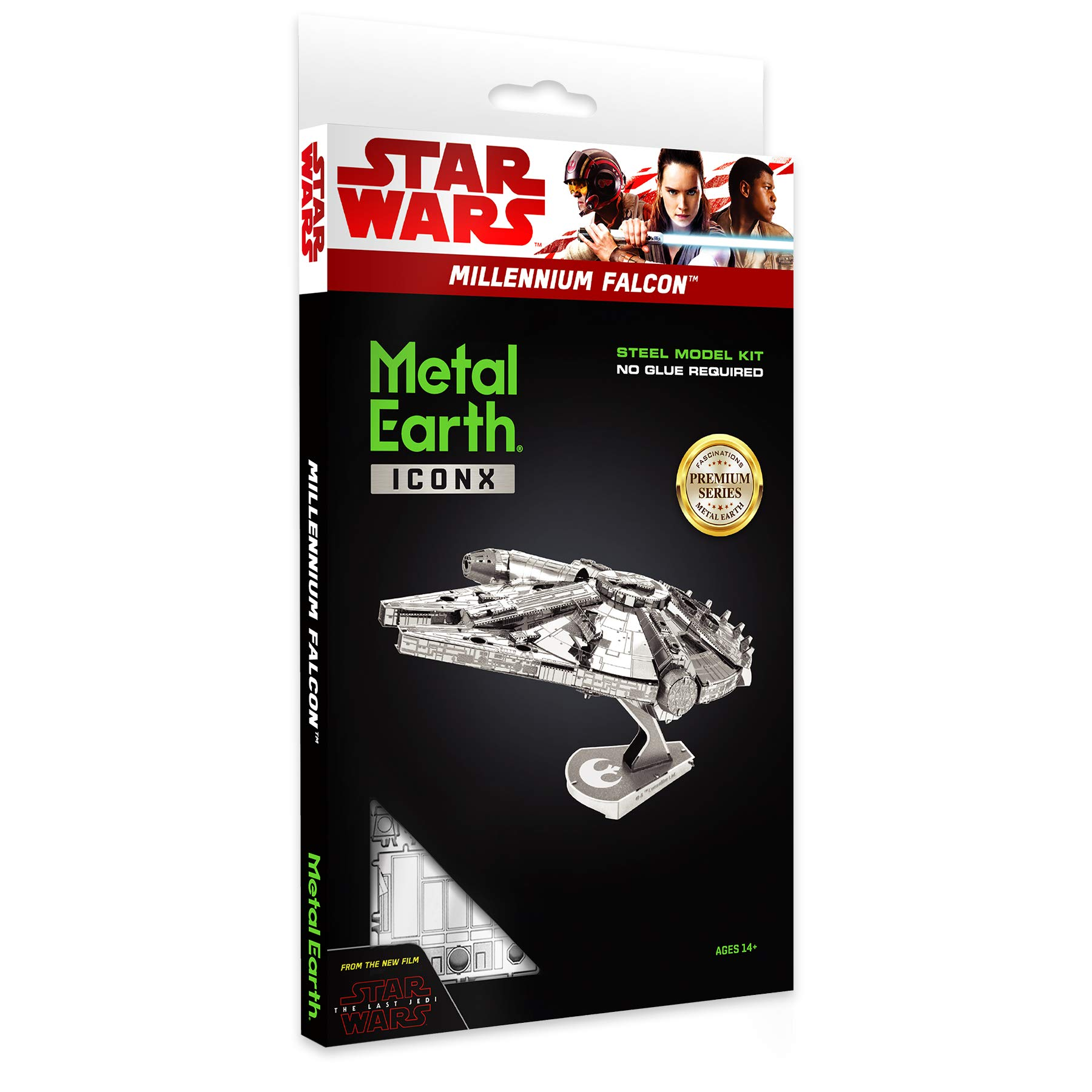 Metal Earth ICONX Star Wars Millennium Falcon Premium Series 3D Metal Model Kit by Fascinations (Image #2)