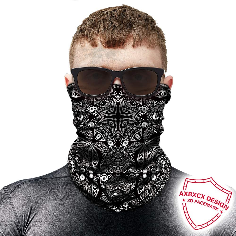 Lightweight Moisture Wicking Summer UV Protection for Men /& Women AXBXCX Paisley Neck Gaiters Fishing Face Mask