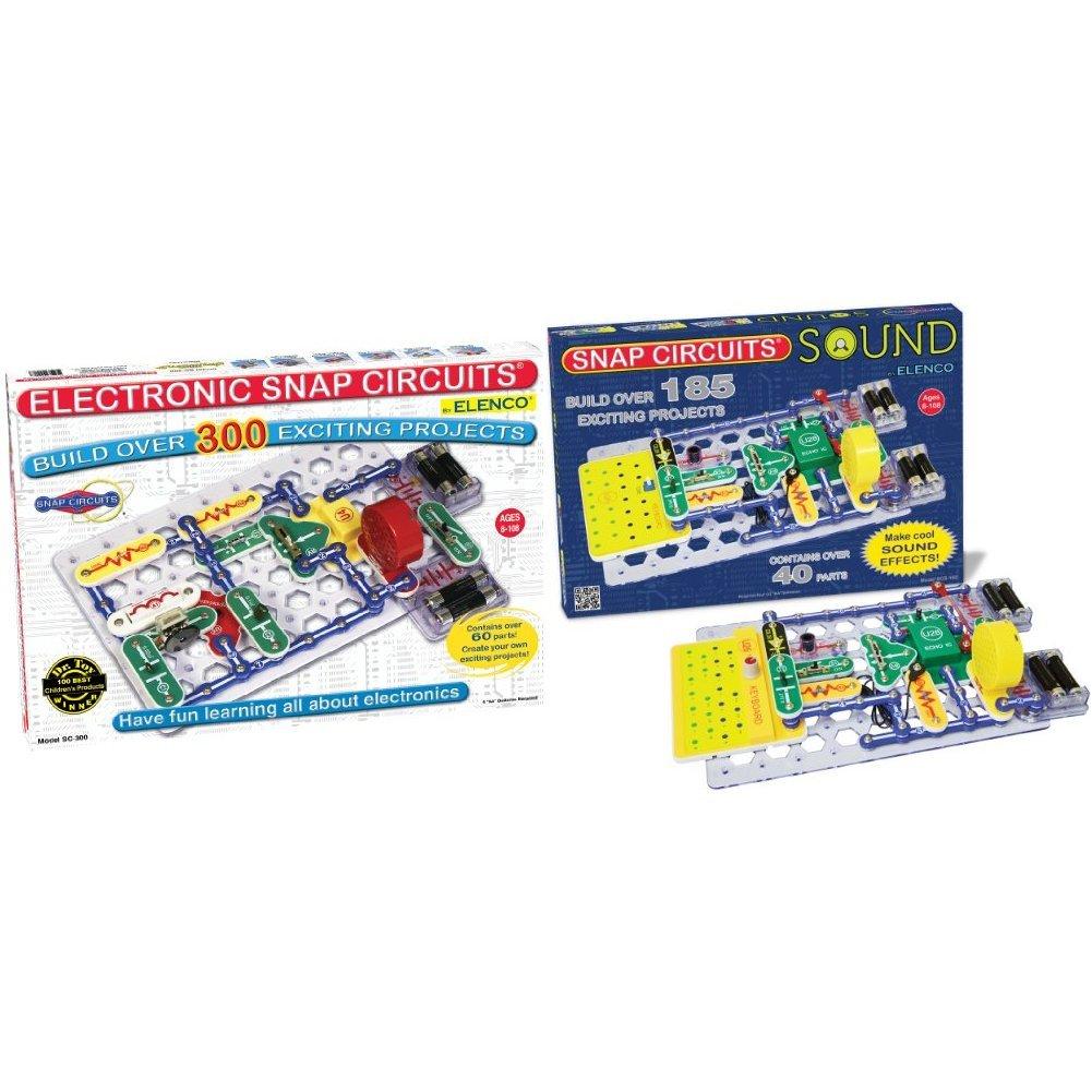 Snap Circuits SC-300 Electronics Discovery Kit with Snap Circuits Sound Electronics Discovery Kit Bundle