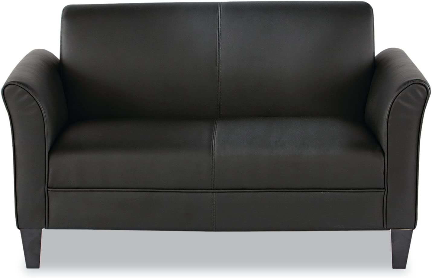 Alera ALE Reception Lounge Furniture, Loveseat, 55-1/2w x 31-1/2d x 32h, Black