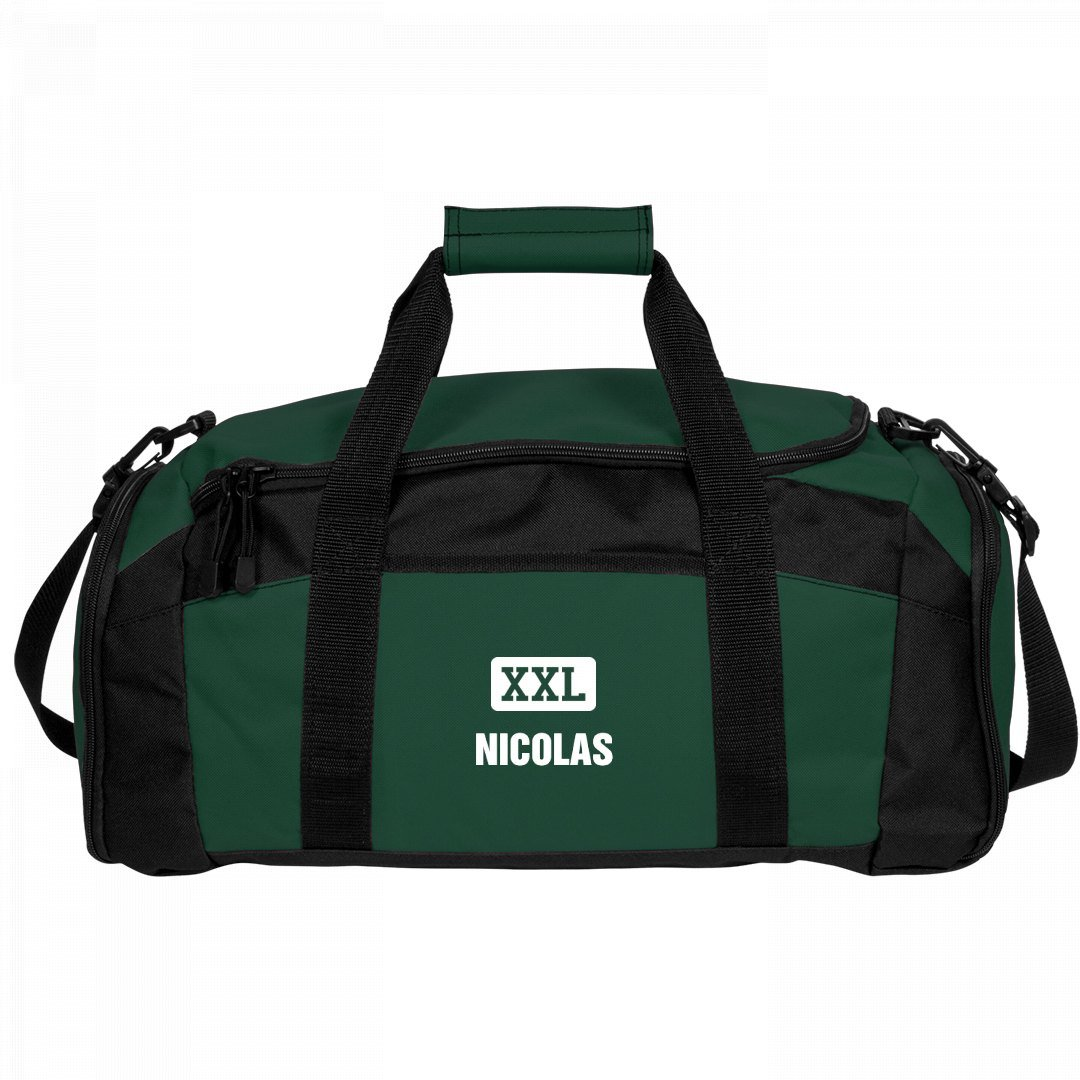 Nicolas Gets A Gym Bag: Port & Company Gym Duffel Bag by FUNNYSHIRTS.ORG