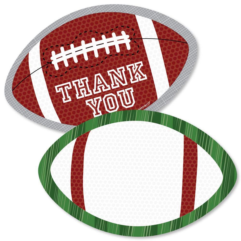 End Zone - Tarjetas de agradecimiento con forma de balón de fútbol ...