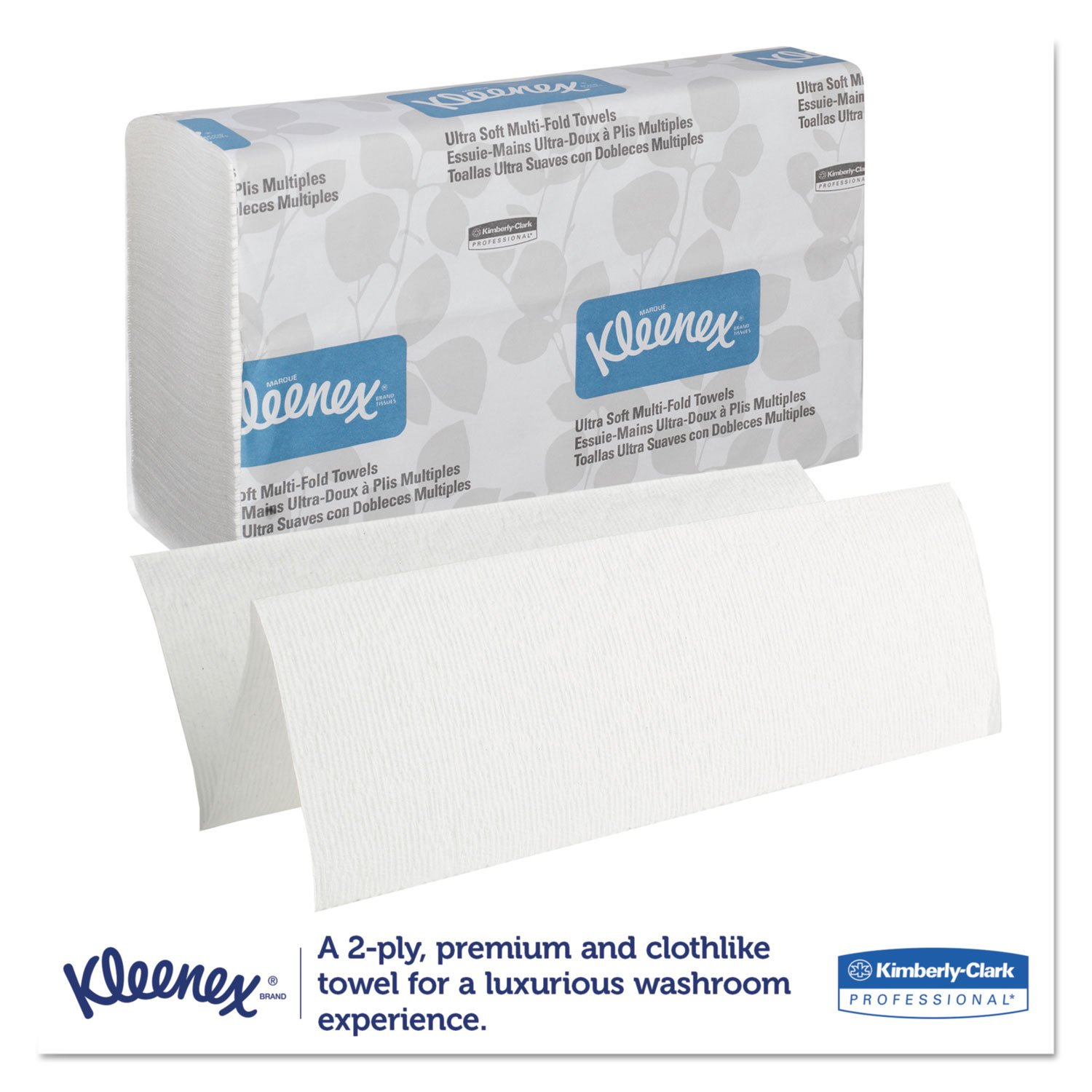 Amazon.com: Kleenex 43752 Ultra Soft Multi-Fold Towels, 2-Ply, 9 1/4 x 9 1/2, 150/Pack, 16 Pack/Carton: Home & Kitchen