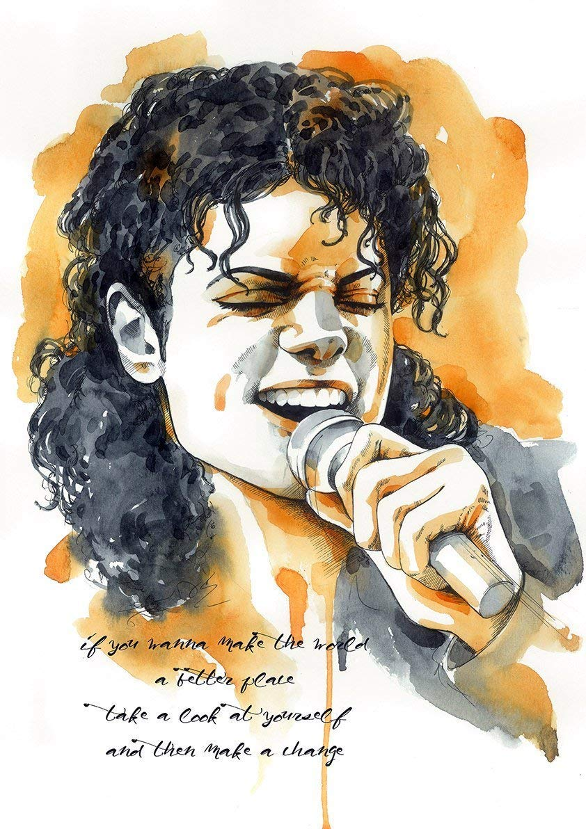 Heal the World Pop Art Michael Jackson Gift Michael Jackson inspired Poster Art Print MJ Poster Michael Jackson Art King of Pop