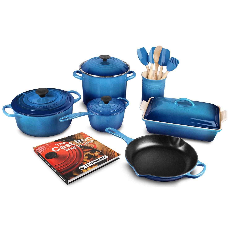 Best cast iron cookware reviews. Le Creuset 16-piece Cookware Set (Flame)
